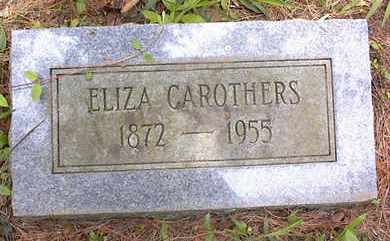 CAROTHERS, ELIZA - Johnson County, Arkansas | ELIZA CAROTHERS - Arkansas Gravestone Photos