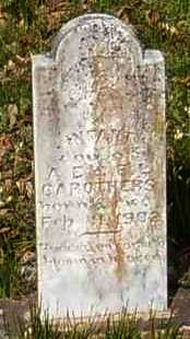CAROTHERS, INFANT DAUGHTER - Johnson County, Arkansas | INFANT DAUGHTER CAROTHERS - Arkansas Gravestone Photos