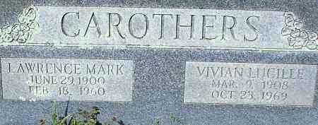 CAROTHERS, VIVIAN LUCILLE - Johnson County, Arkansas | VIVIAN LUCILLE CAROTHERS - Arkansas Gravestone Photos