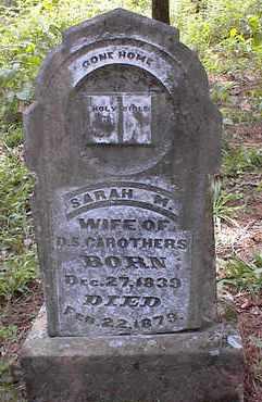 JOHNSON CAROTHERS, SARAH M. - Johnson County, Arkansas | SARAH M. JOHNSON CAROTHERS - Arkansas Gravestone Photos