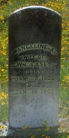 CASEY, ANGELINE A - Johnson County, Arkansas   ANGELINE A CASEY - Arkansas Gravestone Photos