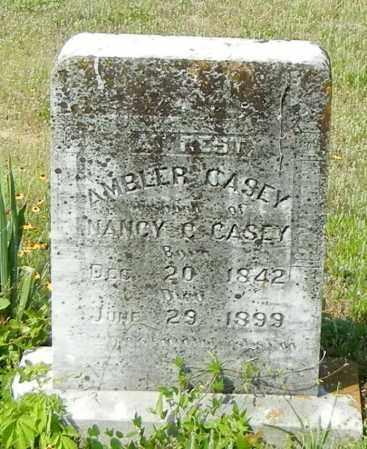 CASEY, AMBLER ABEL - Johnson County, Arkansas | AMBLER ABEL CASEY - Arkansas Gravestone Photos