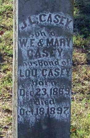 CASEY, J L (CLOSE UP) - Johnson County, Arkansas   J L (CLOSE UP) CASEY - Arkansas Gravestone Photos