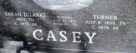 CASEY, TURNER - Johnson County, Arkansas   TURNER CASEY - Arkansas Gravestone Photos