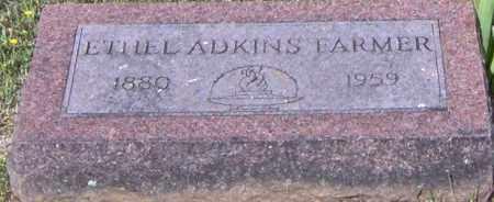 FARMER, ETHEL M ADKINS - Johnson County, Arkansas | ETHEL M ADKINS FARMER - Arkansas Gravestone Photos
