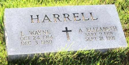HARRELL, A. ELIZABETH - Johnson County, Arkansas   A. ELIZABETH HARRELL - Arkansas Gravestone Photos