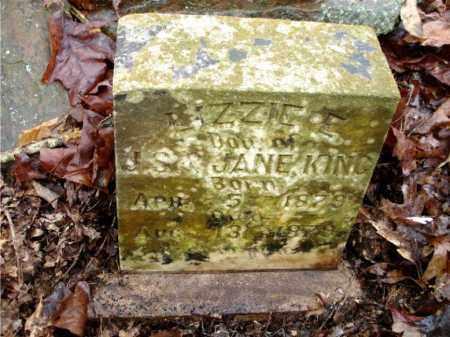 KING, LIZZIE E. (CLOSE UP) - Johnson County, Arkansas | LIZZIE E. (CLOSE UP) KING - Arkansas Gravestone Photos