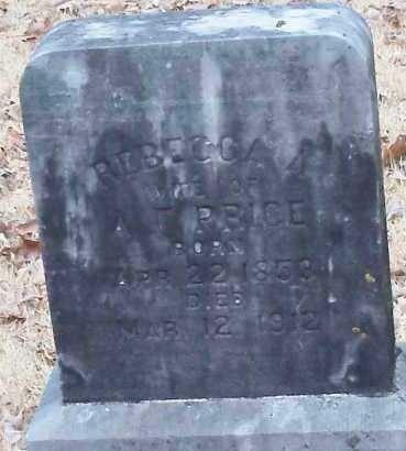 PRICE, REBECCA A - Johnson County, Arkansas | REBECCA A PRICE - Arkansas Gravestone Photos
