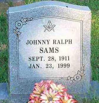 SAMS, JOHNNY RALPH - Johnson County, Arkansas | JOHNNY RALPH SAMS - Arkansas Gravestone Photos