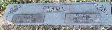 SAMS, LOYD - Johnson County, Arkansas | LOYD SAMS - Arkansas Gravestone Photos