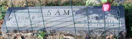 SAMS, TOM R - Johnson County, Arkansas | TOM R SAMS - Arkansas Gravestone Photos