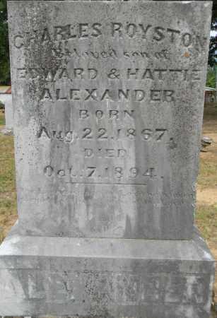 ALEXANDER, CHARLES ROYSTON - Lafayette County, Arkansas | CHARLES ROYSTON ALEXANDER - Arkansas Gravestone Photos
