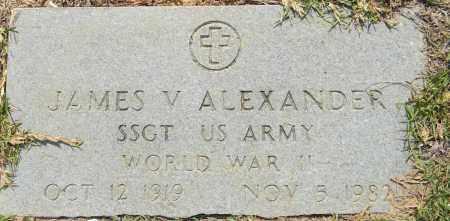 ALEXANDER (VETERAN WWII), JAMES V - Lafayette County, Arkansas | JAMES V ALEXANDER (VETERAN WWII) - Arkansas Gravestone Photos