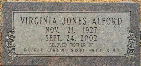 JONES ALFORD, VIRGINIA - Lafayette County, Arkansas   VIRGINIA JONES ALFORD - Arkansas Gravestone Photos