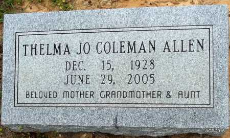 COLEMAN ALLEN, THELMA JO - Lafayette County, Arkansas | THELMA JO COLEMAN ALLEN - Arkansas Gravestone Photos