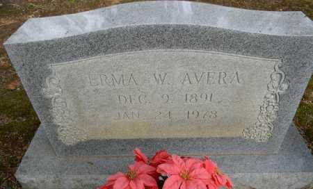 AVERA, ERMA W - Lafayette County, Arkansas | ERMA W AVERA - Arkansas Gravestone Photos