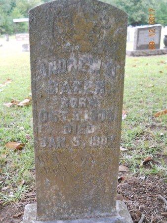 BAKER, ANDREW D - Lafayette County, Arkansas | ANDREW D BAKER - Arkansas Gravestone Photos