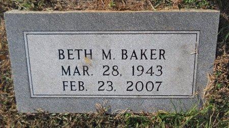 BAKER, BETH M - Lafayette County, Arkansas   BETH M BAKER - Arkansas Gravestone Photos