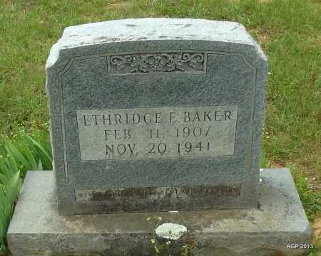 BAKER, ETHRIDGE E - Lafayette County, Arkansas | ETHRIDGE E BAKER - Arkansas Gravestone Photos