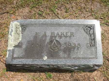 BAKER, F A - Lafayette County, Arkansas | F A BAKER - Arkansas Gravestone Photos