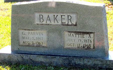 BAKER, MATTIE A - Lafayette County, Arkansas   MATTIE A BAKER - Arkansas Gravestone Photos