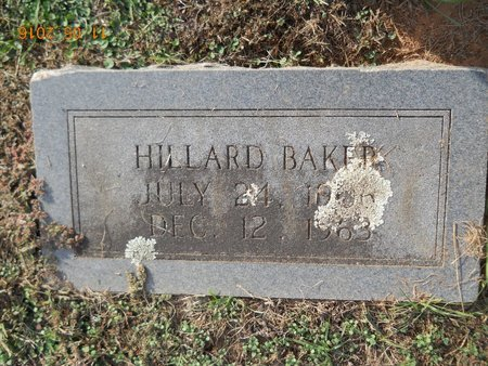 BAKER, HILLARD - Lafayette County, Arkansas   HILLARD BAKER - Arkansas Gravestone Photos