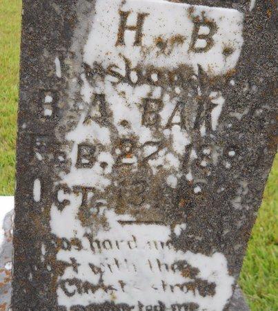 BAKER, H. B. (CLOSEUP) - Lafayette County, Arkansas | H. B. (CLOSEUP) BAKER - Arkansas Gravestone Photos