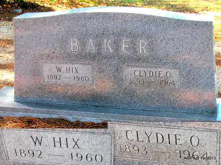BAKER, W. HIX - Lafayette County, Arkansas | W. HIX BAKER - Arkansas Gravestone Photos