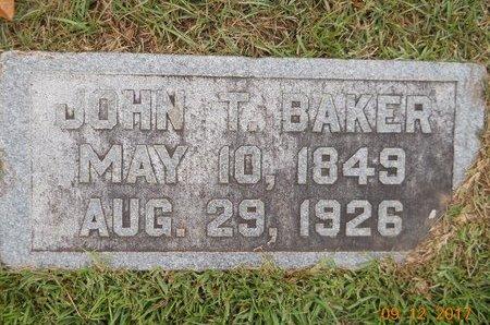 BAKER, JOHN T - Lafayette County, Arkansas | JOHN T BAKER - Arkansas Gravestone Photos