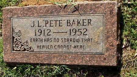 "BAKER, J L ""PETE"" - Lafayette County, Arkansas   J L ""PETE"" BAKER - Arkansas Gravestone Photos"