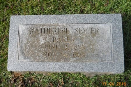 BAKER, KATHERINE - Lafayette County, Arkansas   KATHERINE BAKER - Arkansas Gravestone Photos