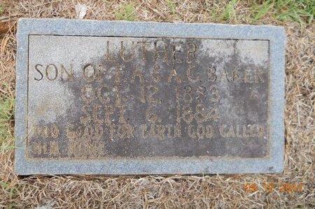BAKER, LUTHER - Lafayette County, Arkansas | LUTHER BAKER - Arkansas Gravestone Photos