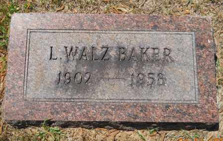 BAKER, L WALZ - Lafayette County, Arkansas   L WALZ BAKER - Arkansas Gravestone Photos