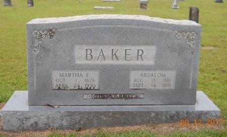 BAKER, ABSALOM - Lafayette County, Arkansas   ABSALOM BAKER - Arkansas Gravestone Photos