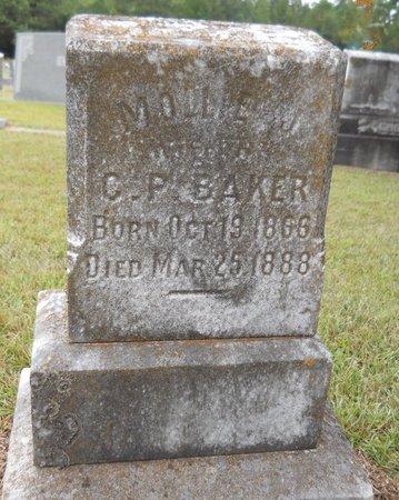 BAKER, MOLLIE J - Lafayette County, Arkansas | MOLLIE J BAKER - Arkansas Gravestone Photos