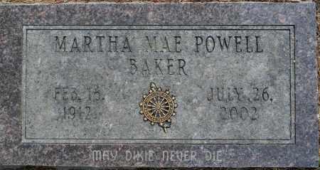 BAKER, MARTHA MAE - Lafayette County, Arkansas   MARTHA MAE BAKER - Arkansas Gravestone Photos