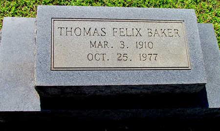 BAKER, THOMAS FELIX - Lafayette County, Arkansas | THOMAS FELIX BAKER - Arkansas Gravestone Photos