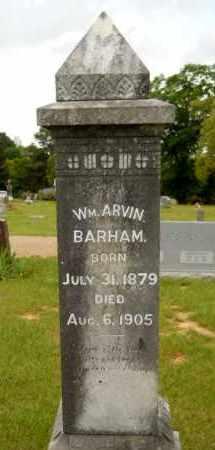 BARHAM, WILLIAM ARVIN - Lafayette County, Arkansas   WILLIAM ARVIN BARHAM - Arkansas Gravestone Photos