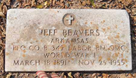 BEAVERS (VETERAN WWI), JEFF - Lafayette County, Arkansas | JEFF BEAVERS (VETERAN WWI) - Arkansas Gravestone Photos