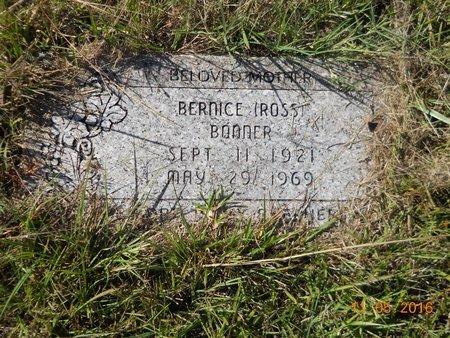 ROSS BONNER, BERNICE - Lafayette County, Arkansas | BERNICE ROSS BONNER - Arkansas Gravestone Photos