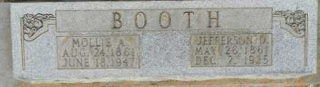 BOOTH, JEFFERSON D - Lafayette County, Arkansas   JEFFERSON D BOOTH - Arkansas Gravestone Photos