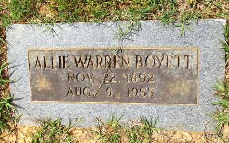 BOYETT, ALLIE WARREN - Lafayette County, Arkansas | ALLIE WARREN BOYETT - Arkansas Gravestone Photos