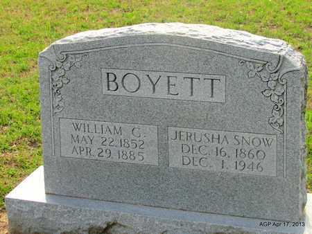 BOYETT, WILLIAM G - Lafayette County, Arkansas | WILLIAM G BOYETT - Arkansas Gravestone Photos