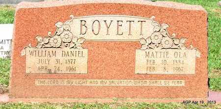 BOYETT, WILLIAM DANIEL - Lafayette County, Arkansas | WILLIAM DANIEL BOYETT - Arkansas Gravestone Photos