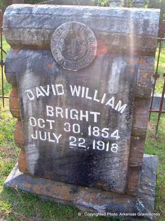 BRIGHT, DAVID WILLIAM - Lafayette County, Arkansas | DAVID WILLIAM BRIGHT - Arkansas Gravestone Photos