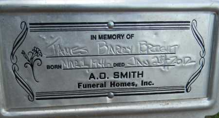 BRIGHT, JAMES BARRY - Lafayette County, Arkansas | JAMES BARRY BRIGHT - Arkansas Gravestone Photos