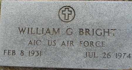 BRIGHT (VETERAN), WILLIAM G - Lafayette County, Arkansas   WILLIAM G BRIGHT (VETERAN) - Arkansas Gravestone Photos