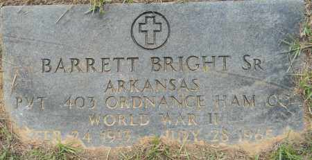 BRIGHT, SR (VETERAN WWII), BARRETT - Lafayette County, Arkansas | BARRETT BRIGHT, SR (VETERAN WWII) - Arkansas Gravestone Photos