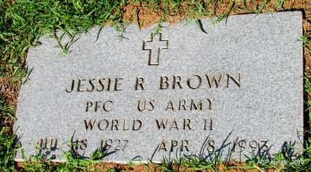 BROWN (VETERAN WWII), JESSIE R - Lafayette County, Arkansas   JESSIE R BROWN (VETERAN WWII) - Arkansas Gravestone Photos