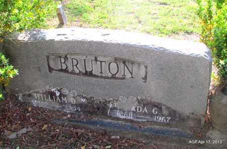 BRUTON, WILLIAM D - Lafayette County, Arkansas | WILLIAM D BRUTON - Arkansas Gravestone Photos